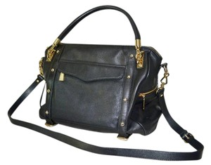 Rebecca Minkoff Cupid Leather Crossbody Satchel in Black