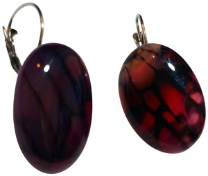 Other New Dragon's Vein Agate Gemstone French Hook Earrings J3499