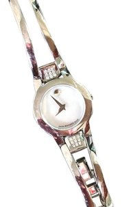 Movado Movado Pearl Faced Watch With Diamonds