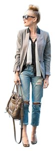 AG Adriano Goldschmied Boyfriend Distressed Relaxed Fit Jeans-Light Wash