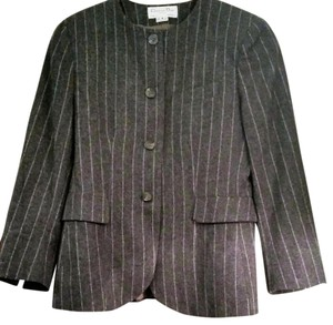 Dior Pinstriping Wool Fully Lined grey Blazer