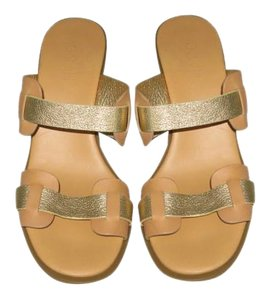 Hogan Cushion CAMEL + GOLD Wedges