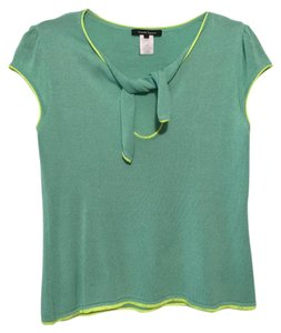 Nanette Lepore T Shirt Green and yellow