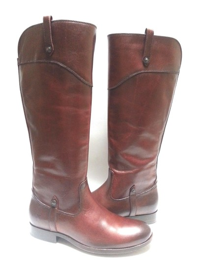 Frye Leather Riding Redwood Boots Image 1