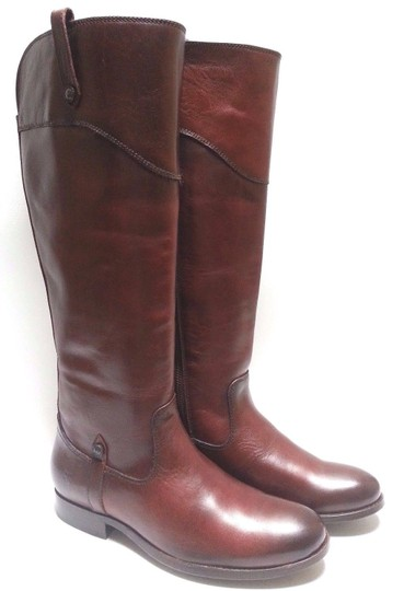 Frye Leather Riding Redwood Boots Image 2