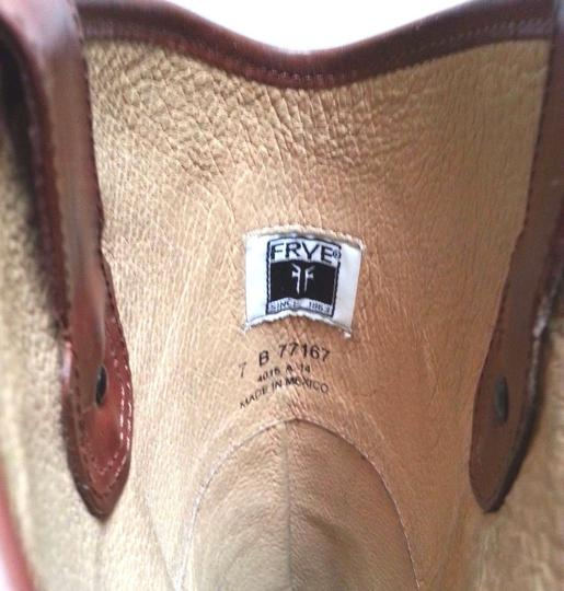 Frye Leather Riding Redwood Boots Image 8