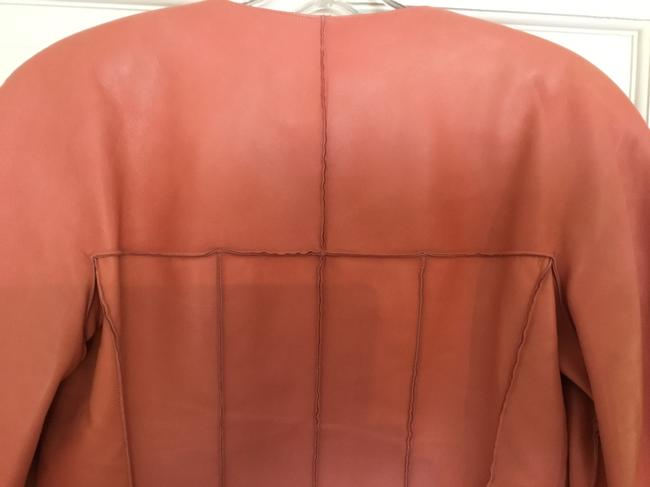 Chanel Vintage Lambskin Size Pink Leather Jacket Image 10