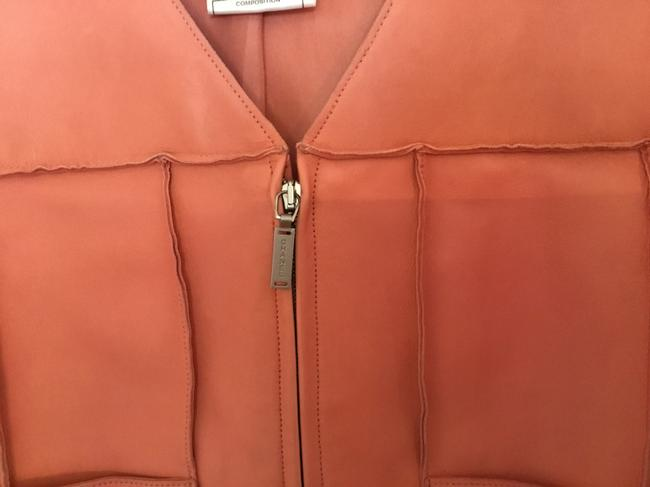 Chanel Vintage Lambskin Size Pink Leather Jacket Image 3