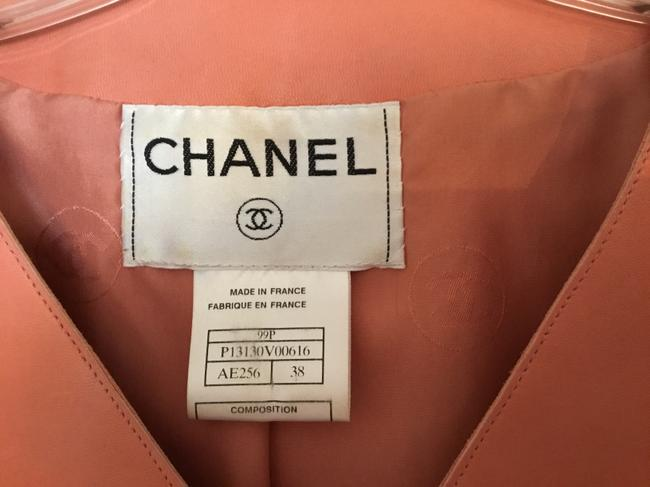 Chanel Vintage Lambskin Size Pink Leather Jacket Image 4