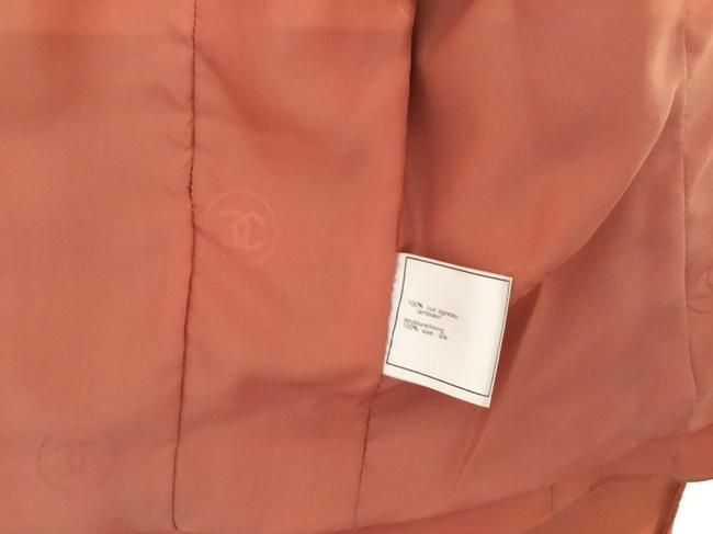 Chanel Vintage Lambskin Size Pink Leather Jacket Image 5