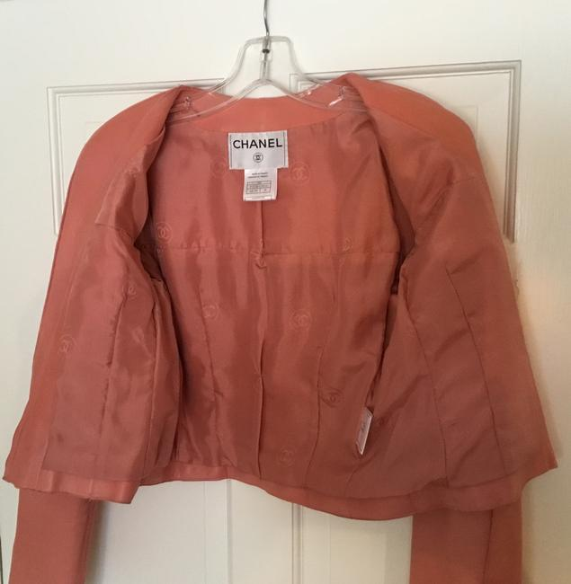 Chanel Vintage Lambskin Size Pink Leather Jacket Image 6