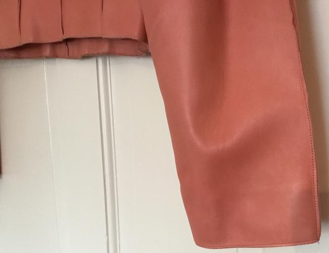 Chanel Vintage Lambskin Size Pink Leather Jacket Image 9