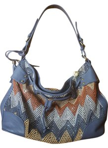 Big Buddha Satchel in Blue Multi