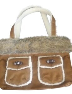 Bath and Body Works Tote in brown and white