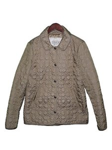 Coach Barncoat Quilted Signature Beige Jacket