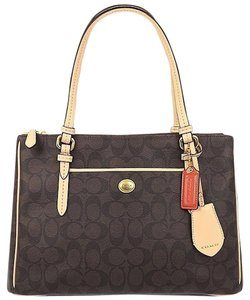 Coach Leather Canvas Shoulder Bag