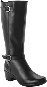 Clarks Knee High Comfortable Black Boots