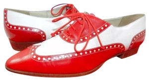 Bally Red and White Flats