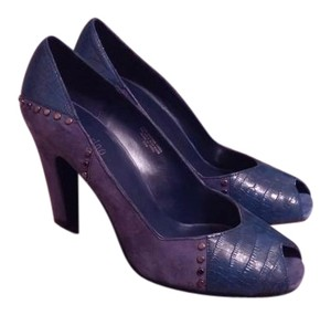 Ann Marino Blue/ suede /leather Pumps
