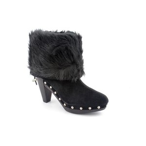 Michael Kors Suede Studded Black Boots