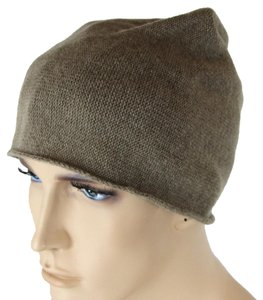 Bottega Veneta NEW Authentic Cashmere Beanie Hat Brown 329636 2717