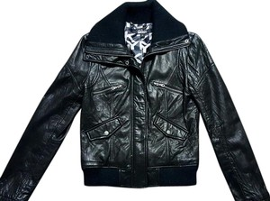 DKNY Leather Bomber Geniune Leather Jacket