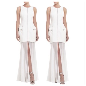 BCBGMAXAZRIA Annalisa Sleeveless Sheer Dress