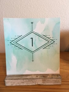 20 Rustic Table Number Card Holders