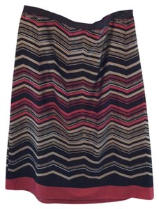 Ann Taylor LOFT Skirt Striped Chevron Print