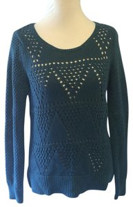 Ann Taylor LOFT Sweater Solid Pullover Crochet Tunic