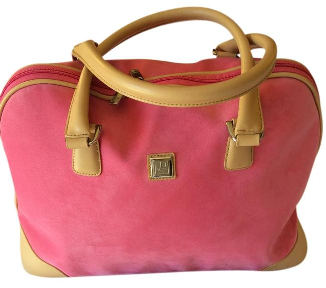 Item - Dvf Carry On Pink/Salmon Canvas Weekend/Travel Bag