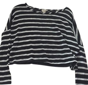 LA Hearts Striped Velvet Vintage Sweater