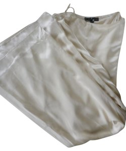 Ralph Lauren Silk Wide-leg Trouser Pants BEIGE/ IVORY