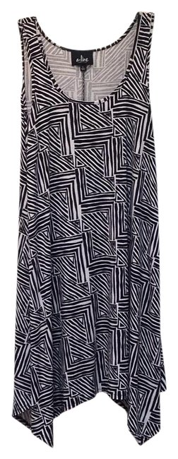 Item - Black White Made In Hawaii Above Knee Short Casual Dress Size 12 (L)