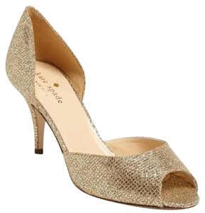 Kate Spade Gold Starlight Pumps