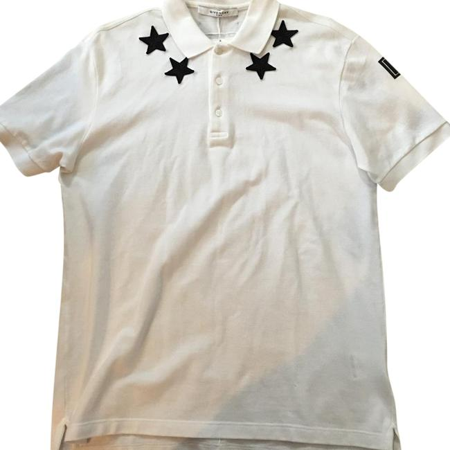 Givenchy short sleeve star polo t shirt white for Givenchy star t shirt