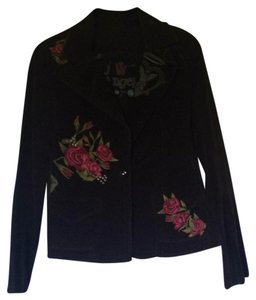 Johnny Was Boho Embroidered brown/mutli Blazer