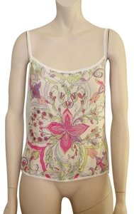 Emilio Pucci 'white Silk Top PINK, GREEN, MAUVE, WHITE