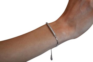 Silver Diamond Cz Bar Bracelet