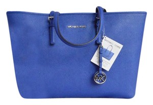 Michael Kors Leather Tote in Blue