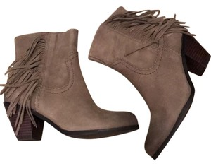 Sam Edelman Fringe Leather Louie Olive Boots