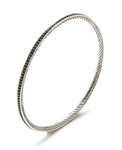 David Yurman David Yurman Diamond Graphite Ice Bangle Bracelet