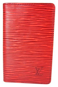 Louis Vuitton Red, Epi Leather, Slim Folding Card Wallet