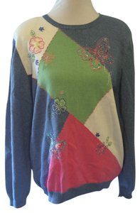 Alfred Dunner Sweater Pullover Floral Sweatshirt