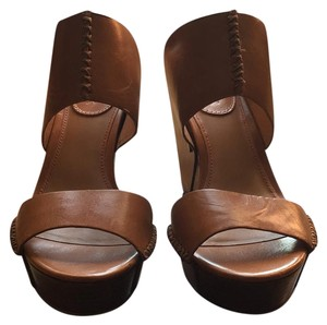 H.S. Trask Tan Wedges