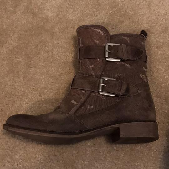 Boutique 9 Buckles Canvas Leather Taupe Boots Image 8