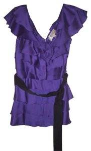 Badgley Mischka Evening Top Purple