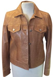 Comme Toujours Tan Leather Jacket