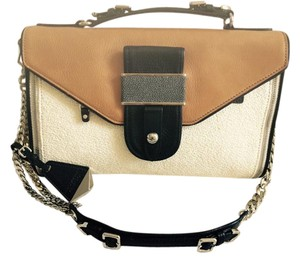 Rebecca Minkoff Collection Leather Straw Huffington Shoulder Bag