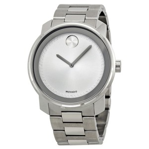 Movado Silver Stainless Steel Designer MENS Casual Dress Watch